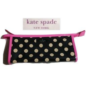 Kate Spade Black White Pink Cosmetic Bag